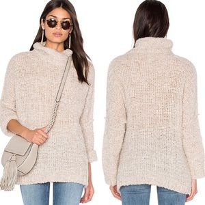 Free People She's All That Ivory Alpaca Sweater M